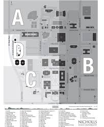 Family Life Center Floor Plans Campus Map U2013 About Nicholls