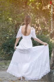 bohemian wedding dress suzannam designs long bridal dress boho