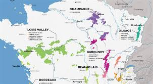 Alsace Lorraine Map French Wine Regions A Map Showing The Wine Regions Of France