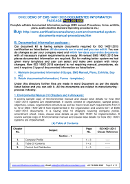 documentation templates for iso 14001 2015 pdf flipbook