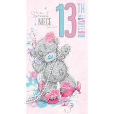 happy birthday nieces me to you birthday cards 1 17 bdays 1st 13th 16th birthday cards