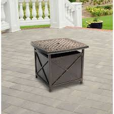 umbrella stand side table outdoor cast top side table umbrella stand traditions rc