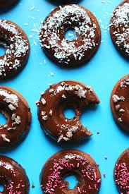vegan baked chocolate donuts gf minimalist baker recipes