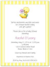 yellow ducky baby shower invitations storkie