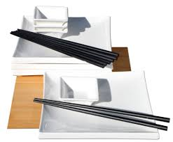 japanese style square white ceramic sushi set for 4 gifts of the
