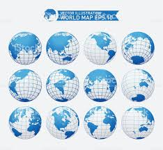 Free Vector World Map by Globe Royalty Free Vector Interface Icon Set World Map Stock
