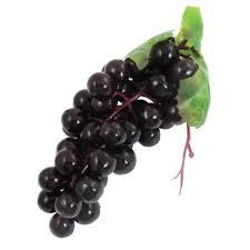 soft plastic bunch artificial black grapes decorative fruits home
