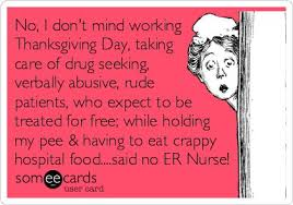 no i don t mind working thanksgiving day taking care of