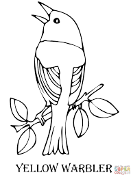 tweety bird coloring pages yellow warbler bird coloring page free printable coloring pages
