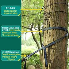 u0026 double camping hammock with mosquito net 10ft hammock tree