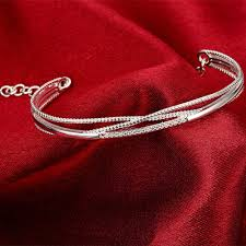 silver plated copper bracelet images Bracelets women trendy heart silver plated copper zircon 6 0cm jpeg