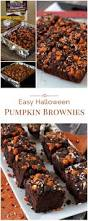 halloween pumpkin brownies barbara bakes