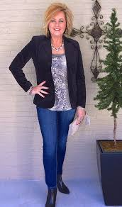 casual for 50 year year s velvet fashion sequin top and sequins