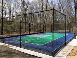 backyards chic backyard resurfacing full court basketball tennis