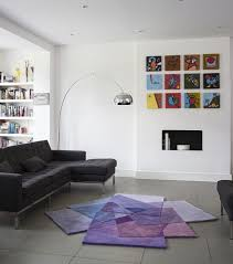 Modern Purple Rugs After Matisse Purple Contemporary Modern Area Rugs By Sonya Winner