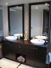 bathroom modern bathroom design ideas with dark wood vanity unit