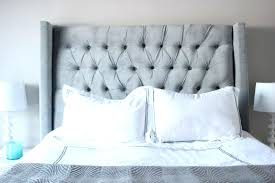 tufted headboard nailhead trim york full queen tufted wing headboard grey amazon size upholstered