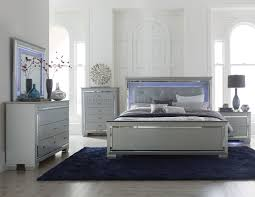 Bedroom Set The Brick Allura Bedroom 1916 In Silver Tone By Homelegance W Options