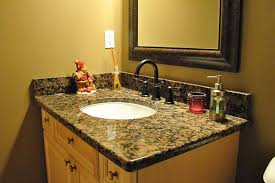 Granite Bathroom Vanities Granite Countertops With White Bathroom Cabinets Probably