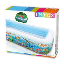 Intex Inflatable Pool Inflatable Pool 305cm White U0026 Blue