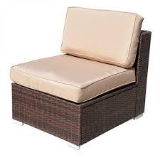 Patio Furniture Sectional - outdoor 7pc aluminum furniture sectional pe wicker patio rattan