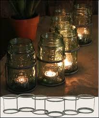 Mason Jar Tea Light Holder Mason Jar Vintage Glass Lid Blue Authentic Dispenser Tea Light