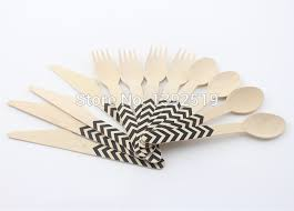 discount wedding supplies promotional 1440pcs printed wooden cutlery set wholesale wedding