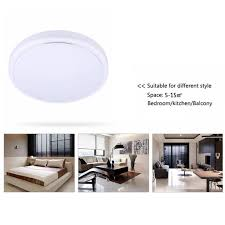 floureon 18w 1600 lumens round led ceiling light for bedroom