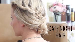 3 pretty date night hair tutorials youtube