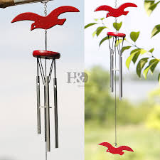 wooden seagulls wind chimes ornaments chime for garden outdoor