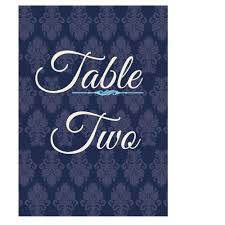 what size are table number cards blue pink regal table number card wedding cards direct