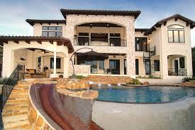 Online Custom Home Builder Lake Travis Waterfront Mediterranean Zbranek Holt Rear Elevation
