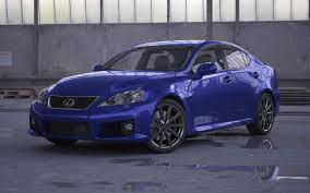 lexus isf blue car lexus is f