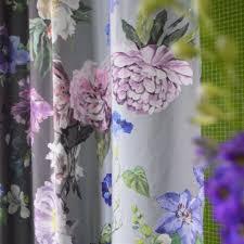 Designer Shower Curtains Fabric Designs Alexandria Amethyst Shower Curtain Design By Designers Guild