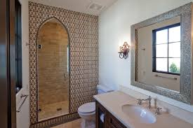 Tile Bathroom Backsplash Mansour 1 Terracotta Tile Bathroom Tabarka Studio