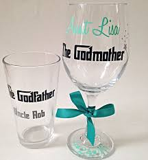 godmother wine glass your godparents will be surprised when you give them each what they