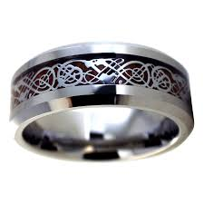 wood wedding bands silver nordic viking celtic tungsten ring wood wedding band