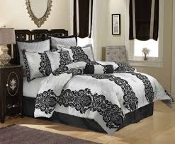 bedding set pleasurable black and white swirl bedding sets
