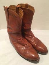 lucchese s boots size 11 lucchese mens brown burn ostrich neck boots size 11 ee retail ebay