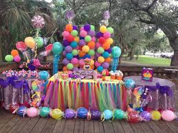candy land decoration setup birthday party in miami fiestas
