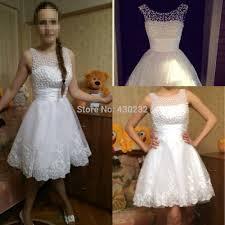 Short Wedding Dresses Aliexpress Com Buy New 2017 White Short Wedding Dresses The