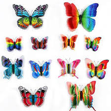wall stickers cheap china online wholesale buy stores shop 12pcs 3d pvc diy wall stickers butterflies animals home living room bedroom fridge decor poster kids