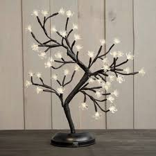 lighted bonsai cherry blossom tree 48 leds battery op warm