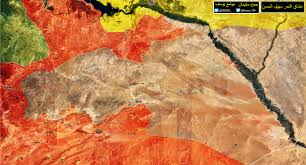 Syria On A Map by Complete Map Of Syrian Army U0027s Fight In Isil Occupied Syria