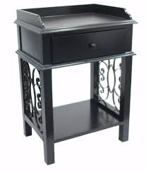 tray top end table american country end side table with drawer tray top and scroll