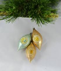 this offering is for a set of 3 vintage glass hand blown teardrop