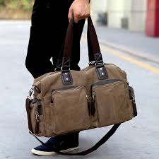 mens travel bag images New high quality men 39 s travel bags solid zipper men canvas bag jpg