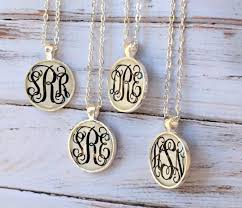 personalized monogram necklace silver monogram necklace monogrammed gifts bridesmaid gift