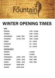 winter 2016 opening times picture of the hotel tuxford