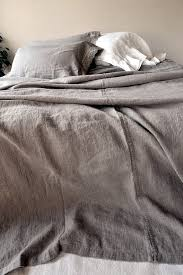 Summer Coverlet Rustic Rough Heavy Weight Stonewashed Linen Bed Cover